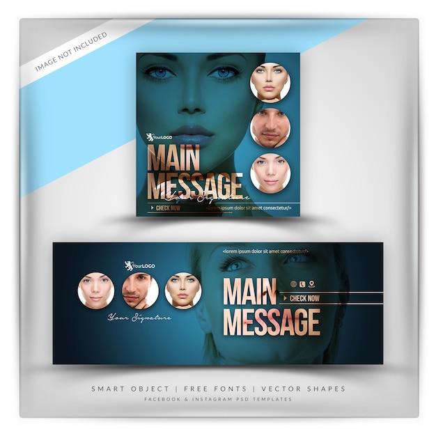 Kosmetik facebook & instagram banner Premium PSD