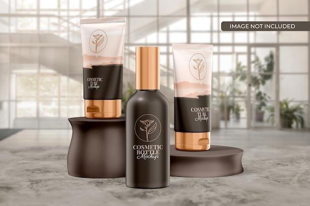 Kosmetikschlauch- und flaschenverpackungsmodell Premium PSD