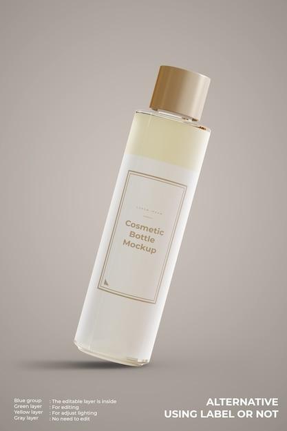 Kosmetisches glasflaschenmodell sieht vorderansicht aus Kostenlosen PSD