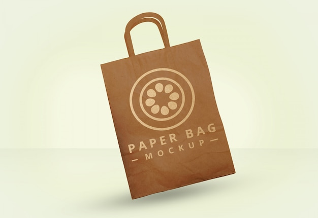 Kostenlose psd papiertüte mock up Premium PSD