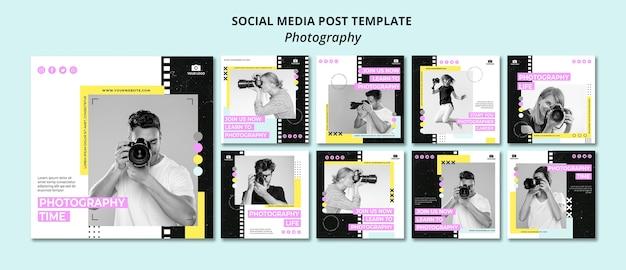 Kreative fotografie social media beiträge Premium PSD