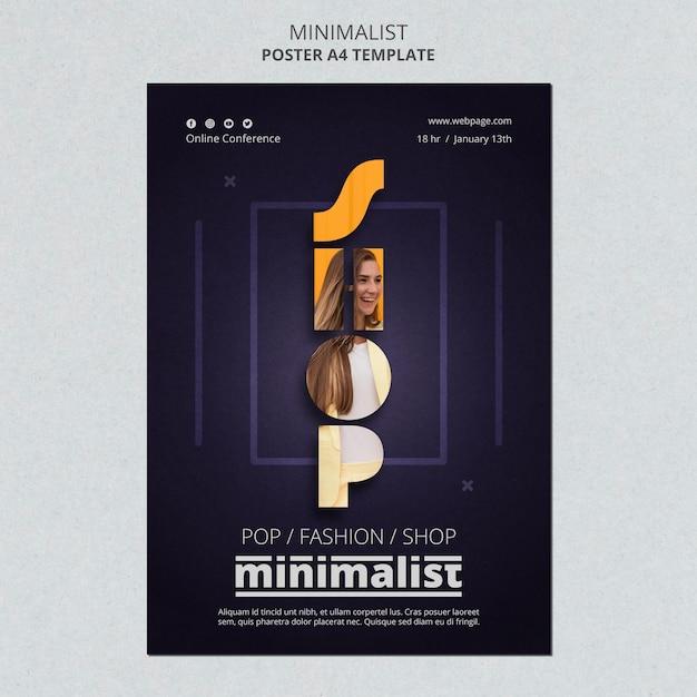 Kreative minimalistische plakatvorlage Kostenlosen PSD