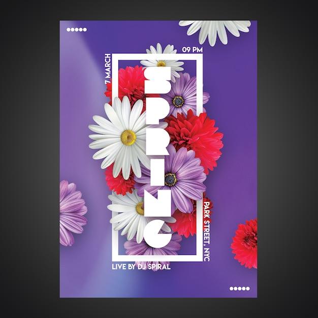 Kreative party flyer vorlage cmyk bereit Premium PSD