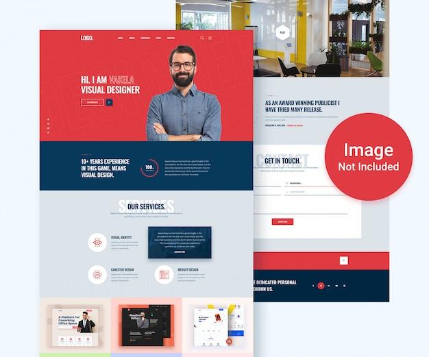 Kreative portfolio-website psd vorlage Premium PSD
