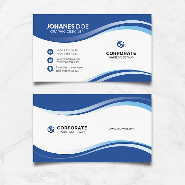 Kreative saubere visitenkarte Premium PSD