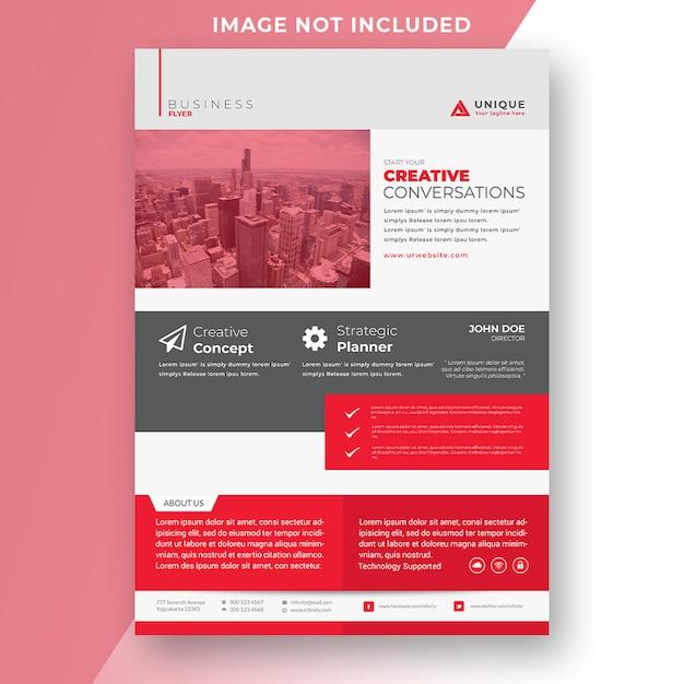 Kreative unternehmens flyer vorlage Premium PSD