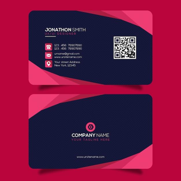 Kreative visitenkartenvorlage premium psd Premium PSD
