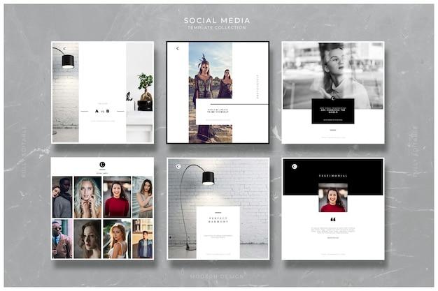 Kreative vorlagen für soziale medien Premium PSD