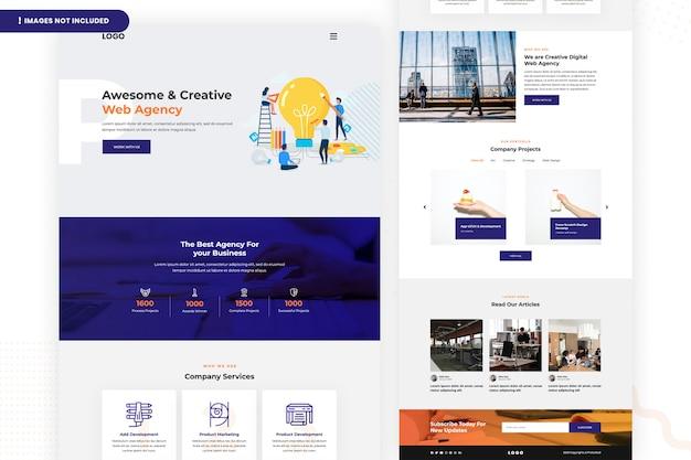 Kreative webseite der webagentur Premium PSD
