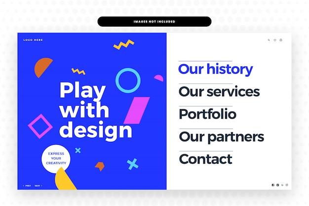 Kreative website Premium PSD