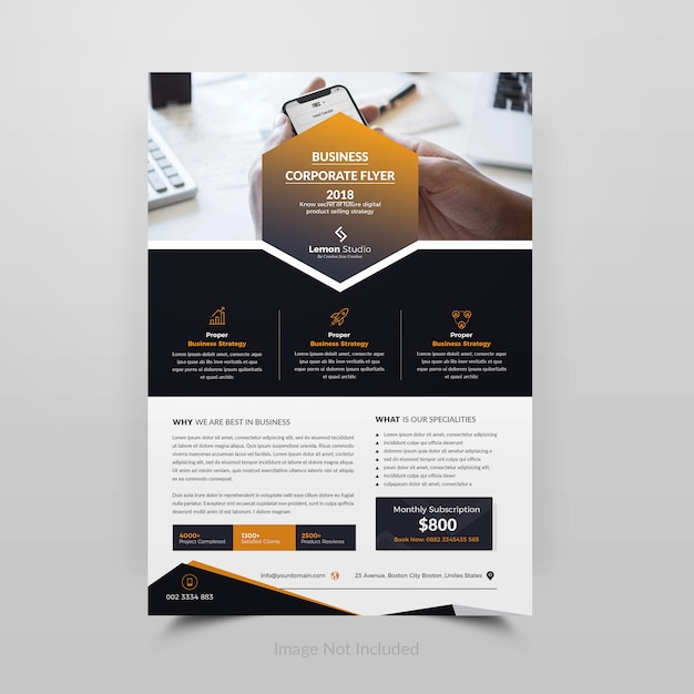 Kreativer unternehmensfyler Premium PSD