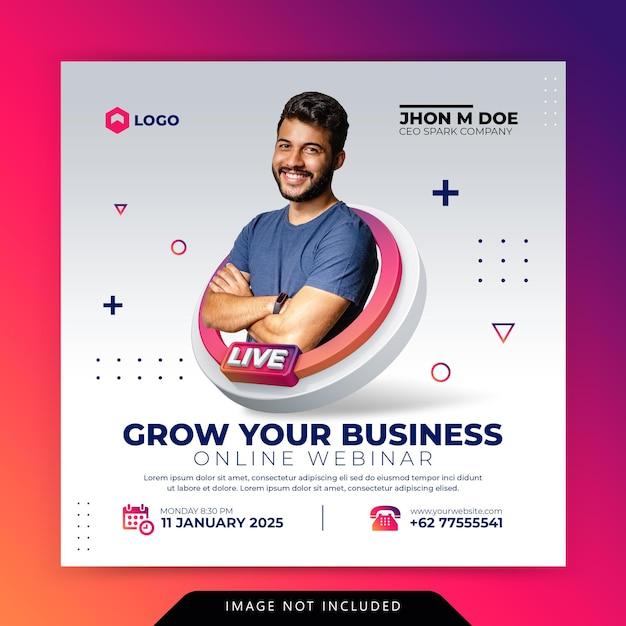 Kreatives konzept digital marketing business promotion für social media vorlage Premium PSD