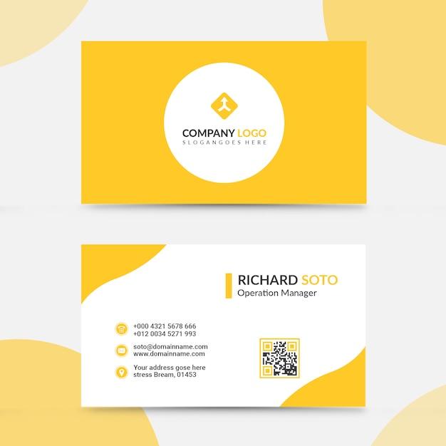 Kreatives visitenkarte-design Premium PSD
