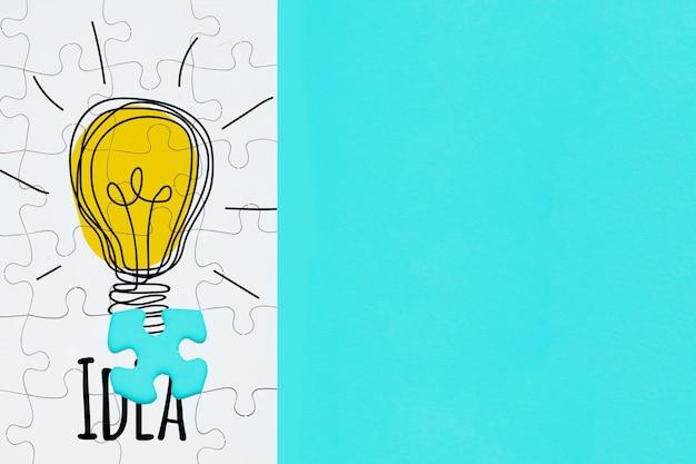 Kreativitätskonzept mit laubsäge Kostenlosen PSD