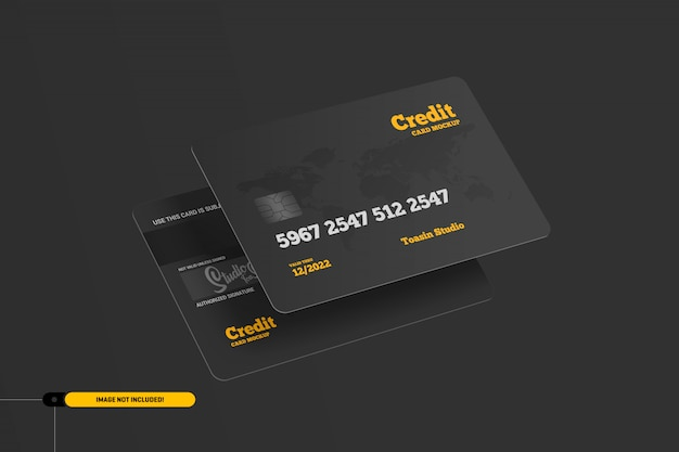 Kreditkarten. geschenkkarten-modell Premium PSD
