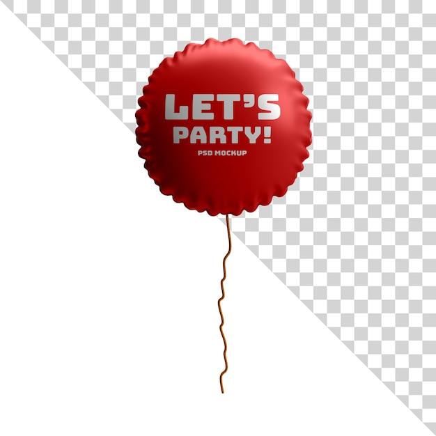 Kreisfolienballon glänzendes modell Premium PSD