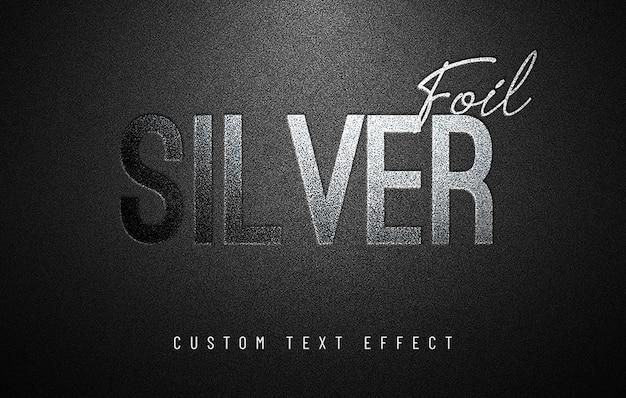 Kundenspezifischer texteffekt der silbernen folie Premium PSD