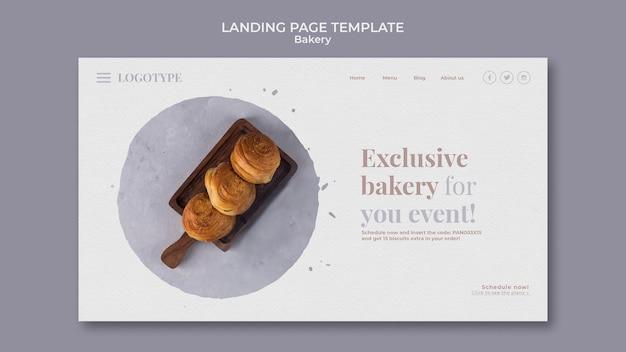 Landing page bäckerei anzeigenvorlage Kostenlosen PSD