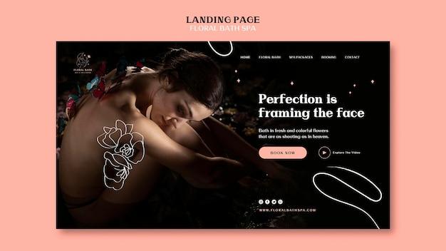 Landing page blumen spa vorlage Kostenlosen PSD