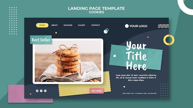 Landing page cookie shop vorlage Kostenlosen PSD