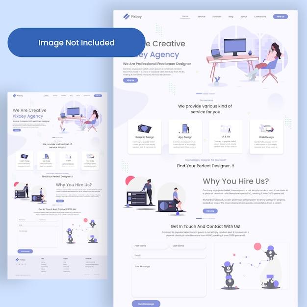 Landing page der webagentur Premium PSD