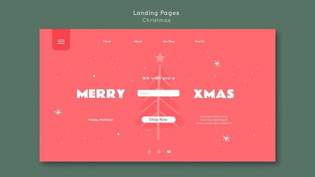 Landing page frohe weihnachten vorlage Kostenlosen PSD