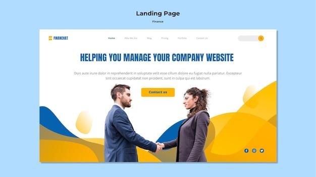 Landing page für business- und finanzseminar Kostenlosen PSD