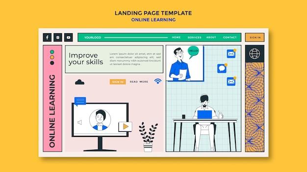 Landing page online-lernvorlage Kostenlosen PSD