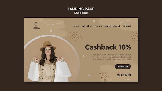 Landing page store verkaufsvorlage Kostenlosen PSD