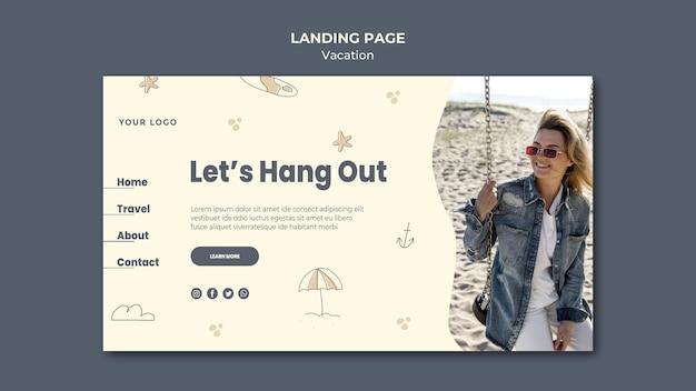 Landing page urlaub anzeigenvorlage Kostenlosen PSD