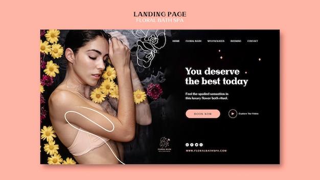 Landingpage der blumen-spa-vorlage Kostenlosen PSD
