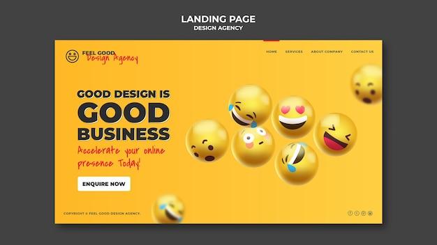 Landingpage der designagentur Kostenlosen PSD