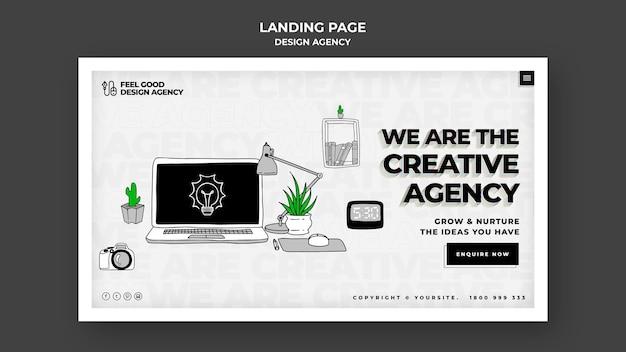 Landingpage der designagentur Premium PSD