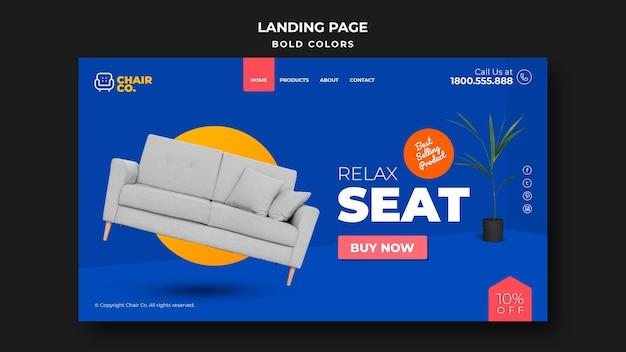 Landingpage der möbelhausvorlage Kostenlosen PSD