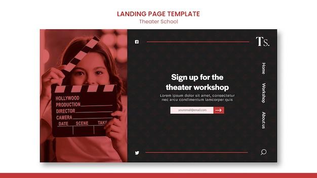 Landingpage der theaterschulvorlage Kostenlosen PSD