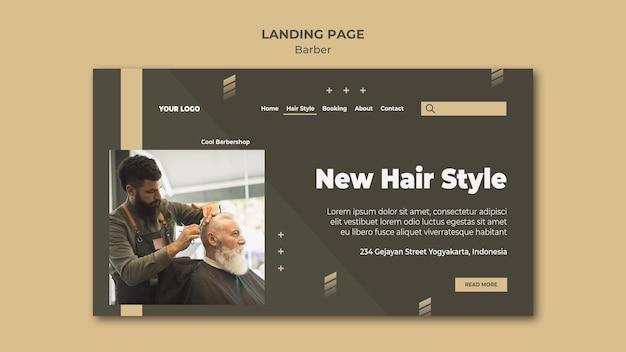 Landingpage friseur shop vorlage Kostenlosen PSD