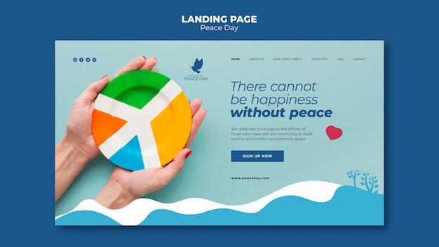 Landingpage für den weltfriedenstag Kostenlosen PSD