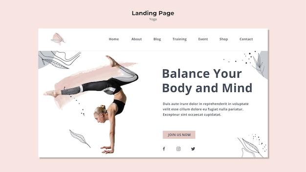 Landingpage für die yoga-haltung Kostenlosen PSD
