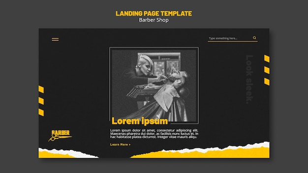Landingpage für friseurladen Premium PSD