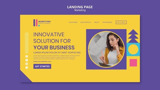 Landingpage für kreative marketingagentur Kostenlosen PSD