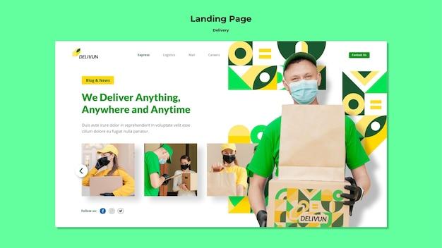 Landingpage für lieferfirma Kostenlosen PSD
