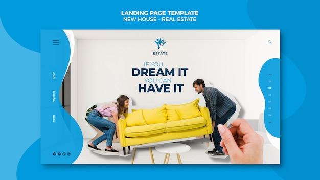 Landingpage für neue immobilien Kostenlosen PSD