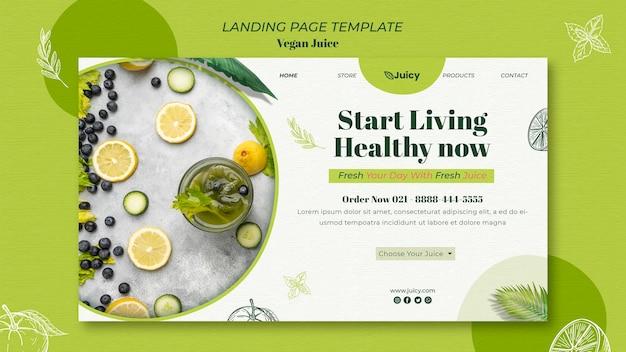 Landingpage für vegane saftlieferfirma Kostenlosen PSD