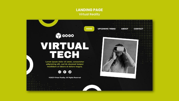 Landingpage virtual reality vorlage Premium PSD