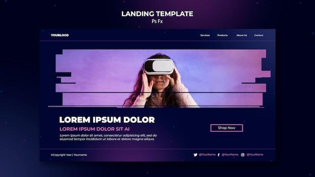 Landingpage virtual reality vorlage Kostenlosen PSD