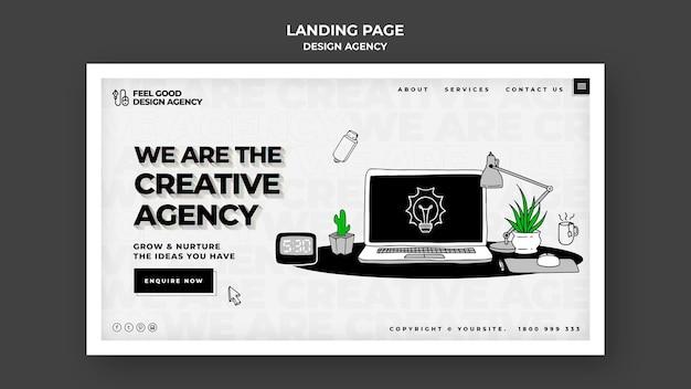 Landingpage-vorlage der designagentur Premium PSD
