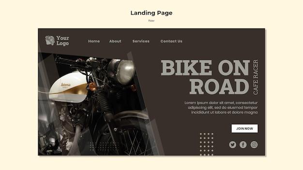 Landingpage-vorlage des fahrerkonzepts Kostenlosen PSD