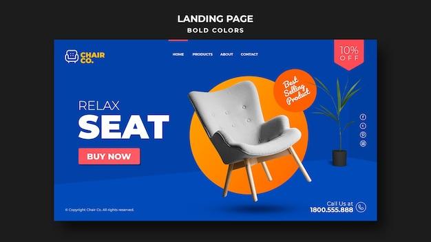 Landingpage-vorlage des möbelhauses Premium PSD