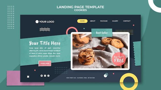 Landingpage-vorlage für cookie-shops Kostenlosen PSD