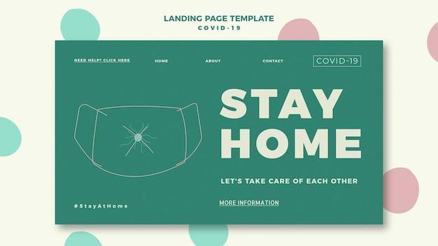 Landingpage-vorlage für covid-19 Kostenlosen PSD